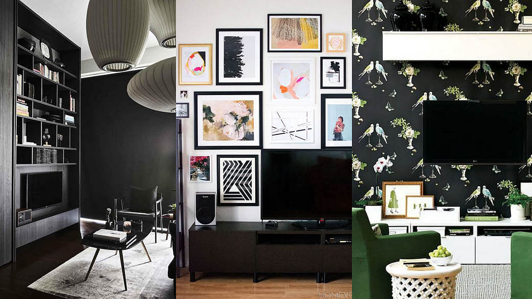 15 Ingenious Ways To Decorate Your Tv Wall The Singapore Women S Weekly
