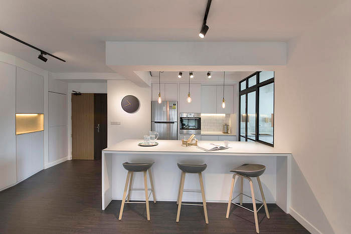 No Space For A Kitchen Island Try This Kitchen Trend Instead That S Perfect For Small Hdbs The Singapore Women S Weekly