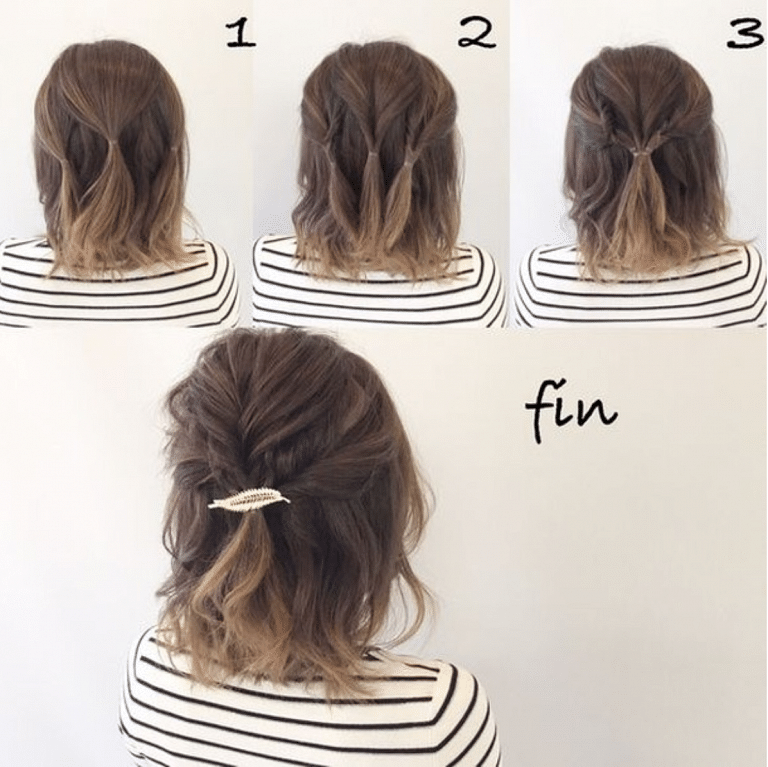 30+ Easy Half,Up Hairstyles That\u0027ll Only Take Minutes To