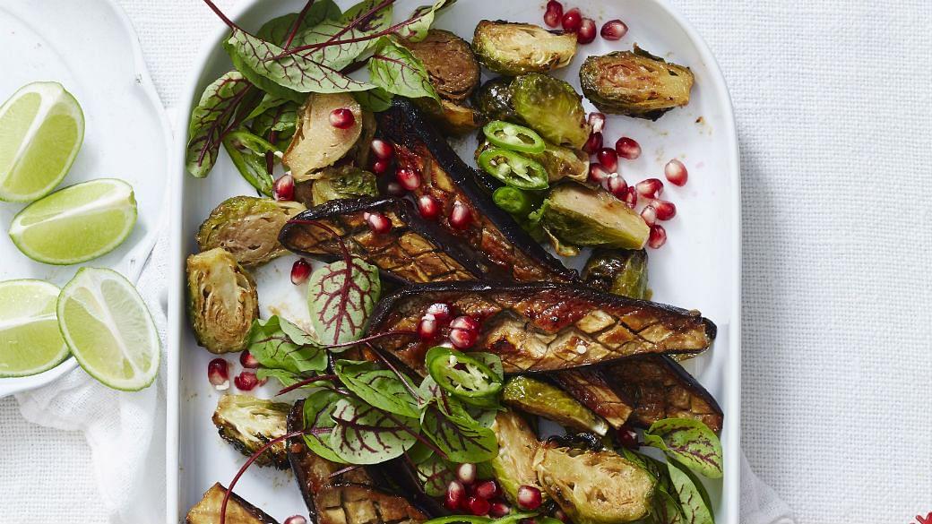 Miso Roast Sprout & Eggplant Salad - The Singapore Women's ...