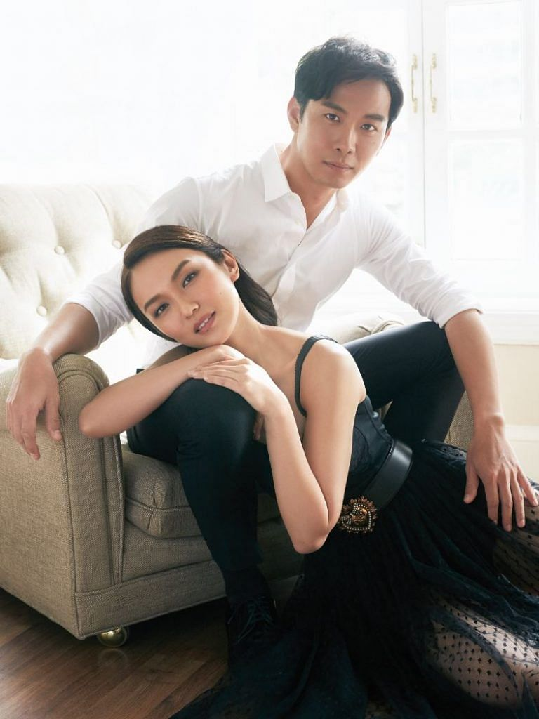 Joanne Peh and Qi Yuwu Singapore Women's Weekly Feb 2020 cover