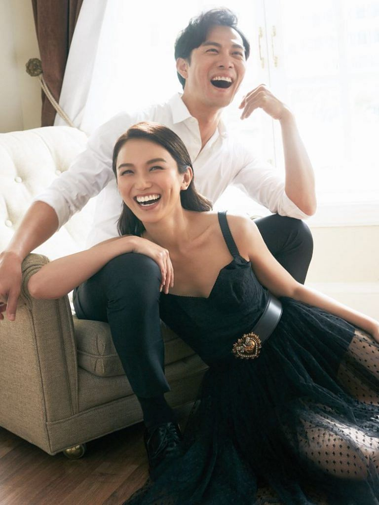 Joanne Peh and Qi Yuwu laughing