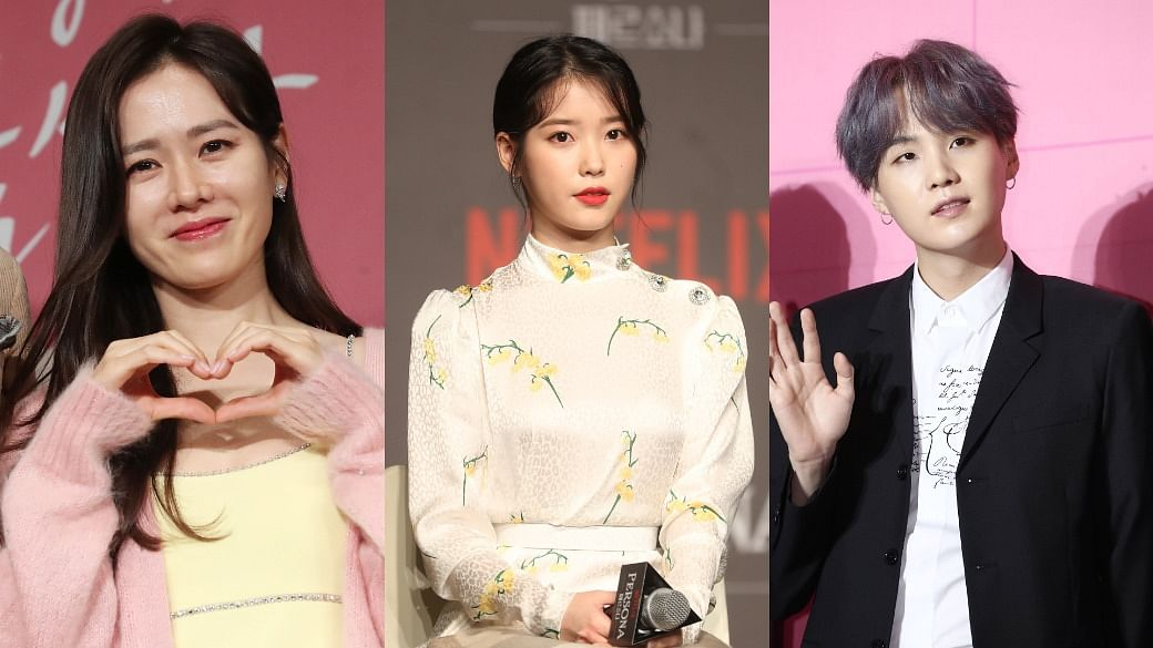 asian celebrities donating covid-19 relief efforts IU son yejin bts suga