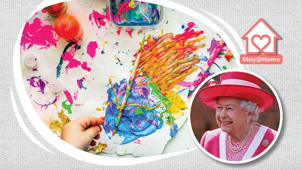 Keep Kids Entertained At Home With Queen Elizabeth's Craft Activities