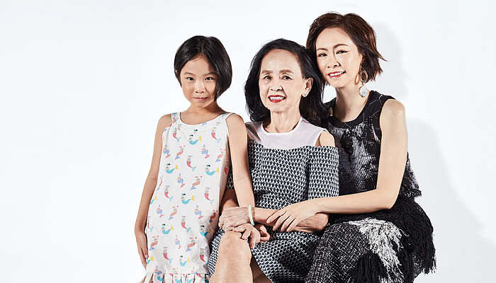 Radio deejay Tan Li Yi, her mother, and her daughter