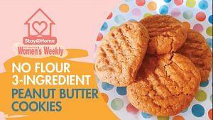 3-Ingredient Cookies: Peanut Butter, Egg, Sugar