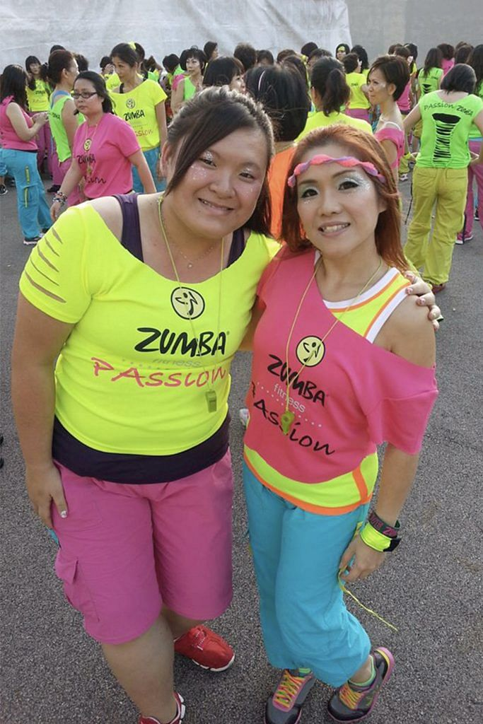 Celine's weight loss journey with her zumba instructor