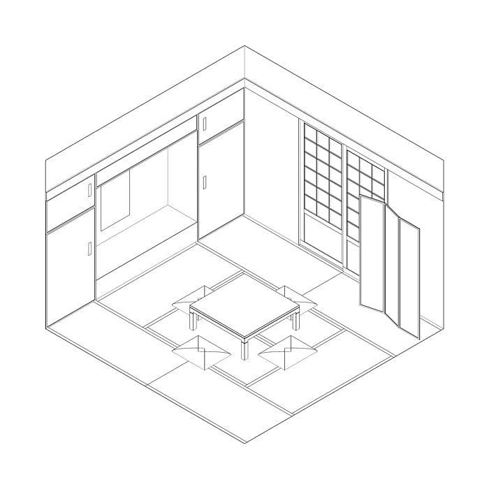 washitsu diagram flexi room