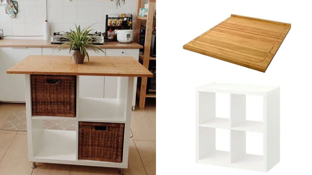 Diy A Kitchen Island For Only 100 With This Clever Ikea Hack The Singapore Women S Weekly