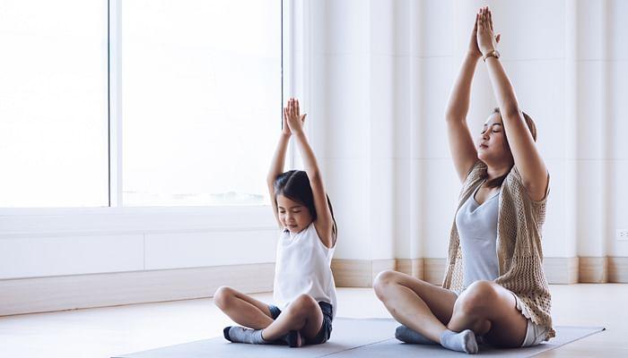 practising-yoga-at-home-studio-self-care