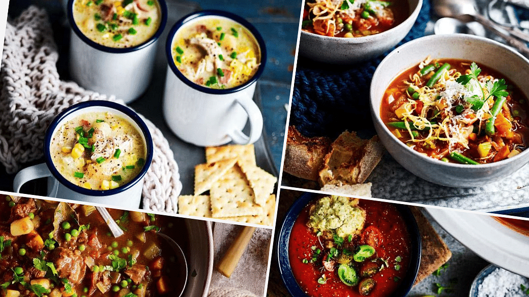 slow cooker soup recipes with chicken, beef, vegetables, tomato, mushroom