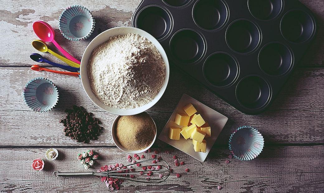 Baking appliances stock image