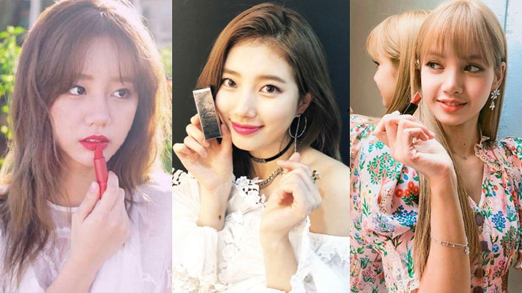 Korean celebrities lipstick