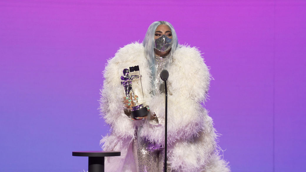 Lady Gaga's acceptance speech during the 2020 MTV Video Music Awards released to the media on August 31, 2020. (Photo Courtesy of MTV via Sipa USA) **MANDATORY CREDIT***EDITORIAL USE ONLY**