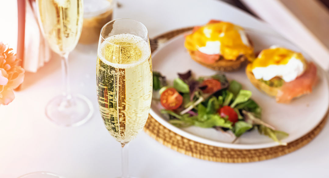 Weekend champagne brunch