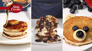 Betty Crocker Pancakes Done 3 Ways: Classic, Berry Bear & Chunky M...