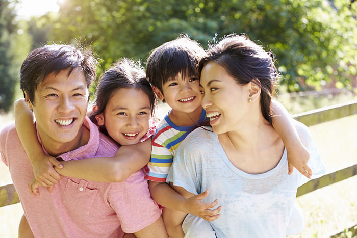 Helicopter parenting asian family parents children