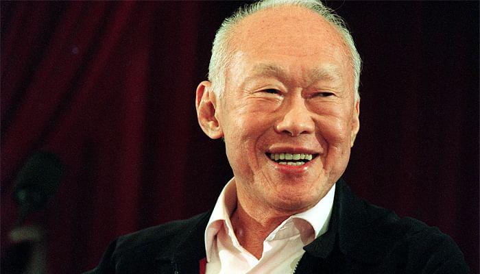 Mr Lee Kuan Yew portrait from shoulder up