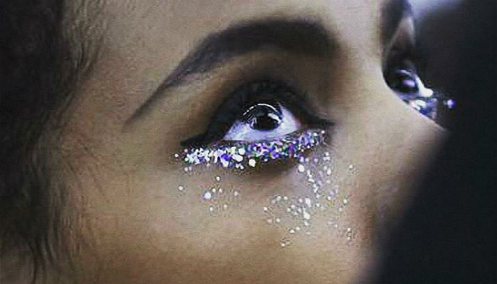 This Latest Beauty Trend Will Make You Cry Glitter Tears
