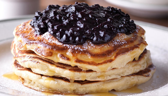 Clinton St. Baking Company & Restaurant - Pancakes with Warm Maple Butter Wild Blueberries Pancakes