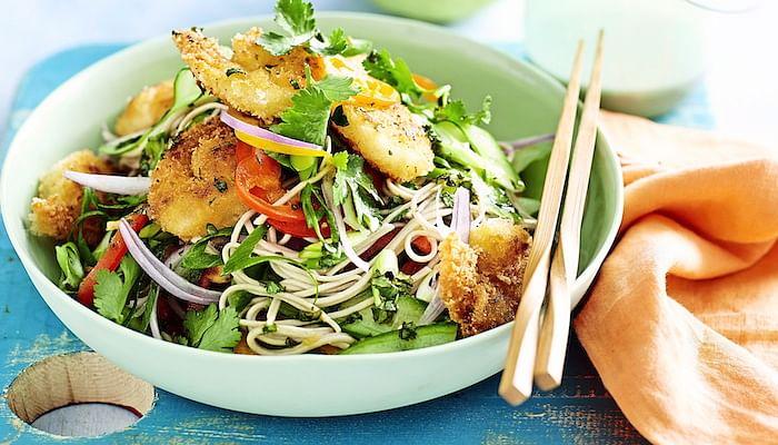 Crispy Prawn And Cucumber Salad
