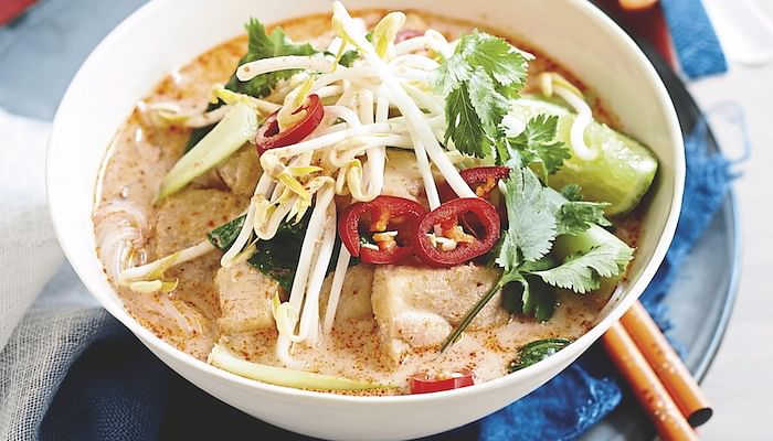 Fish Noodles In Spicy Coconut Broth