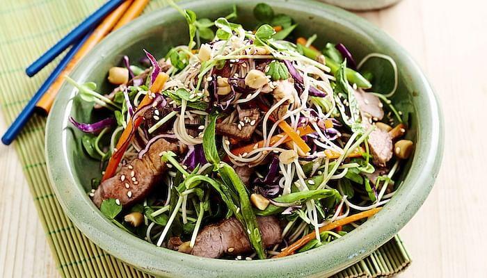 Pork Noodle Toss Salad