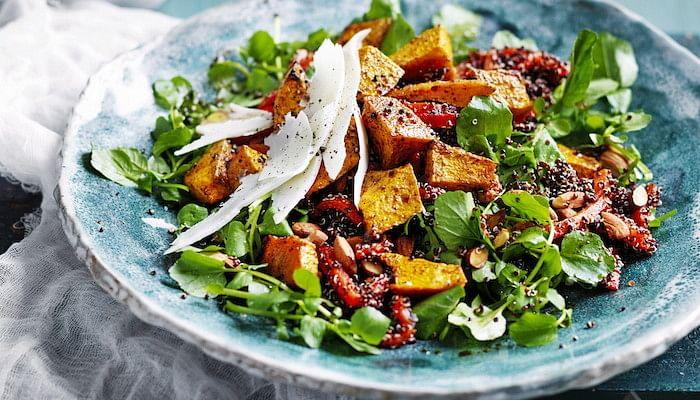 Roast Pumpkin Salad With Black Quinoa Healthy