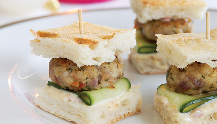 Thai Chicken Burgers Canapes