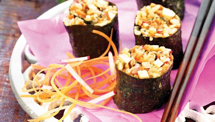 Tofu And Vegetable Nori Rolls Healthy Fast Food