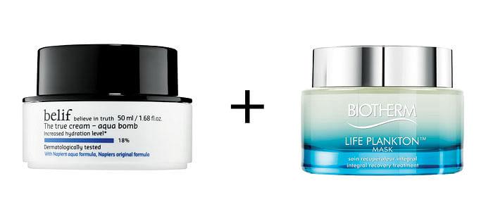 Best night moisturiser and sleeping mask combination