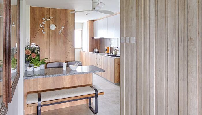 view of a modern HDB kitchen