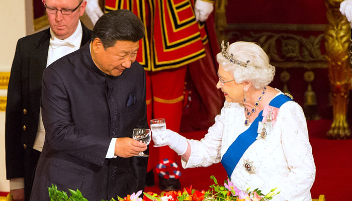 Chinese president Xi Jinping and the Queen
