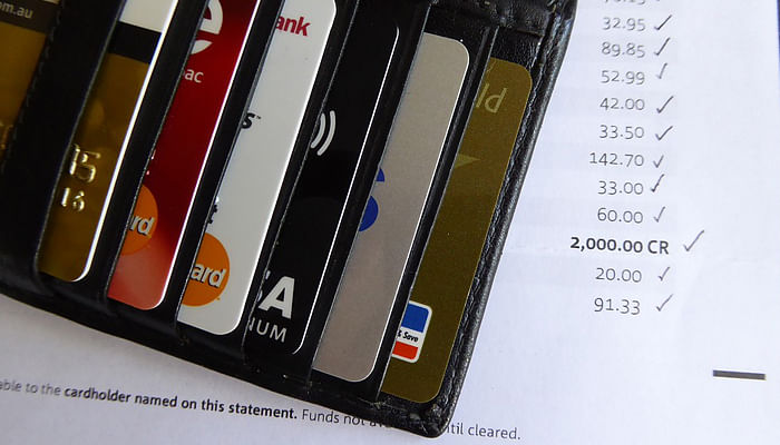 credit cards and bills