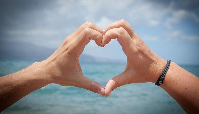 hand shaped heart