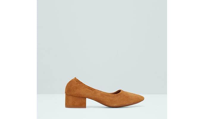 Mango stylish low-block heels