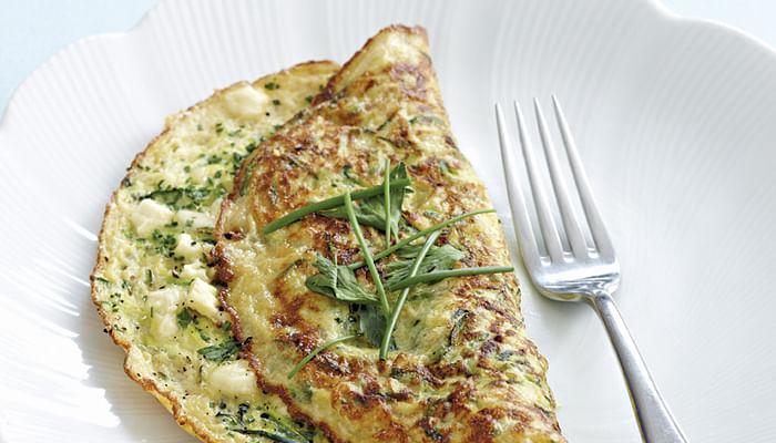 Herb, Zucchini And Feta Omelette