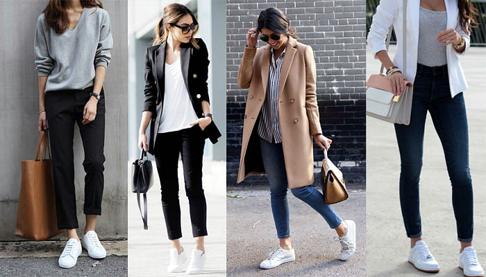 The 5 Golden Rules Of Wearing Sneakers To Work_White Sneakers