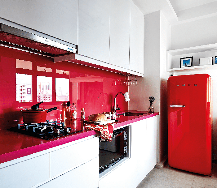 hdb home inspiration scandinavian colourful kitchen