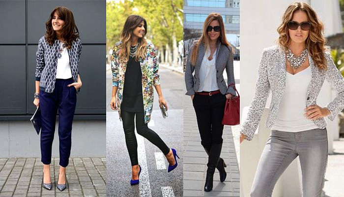5 Outfit Combinations That Always Work For The Office_Printed Blazer