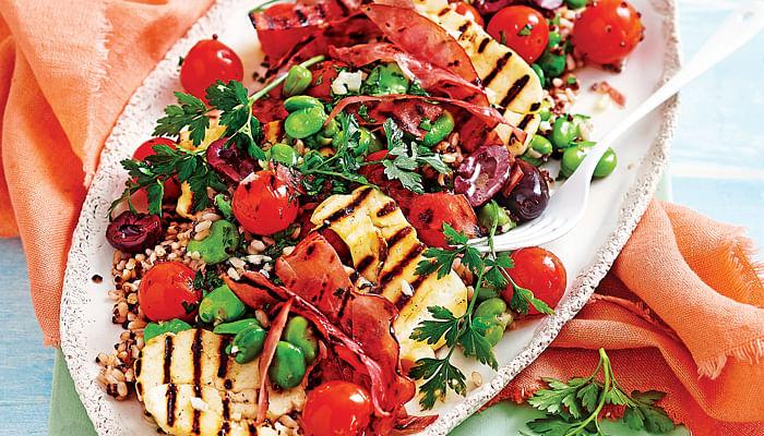 Ham, Tomato & Haloumi Rice Salad