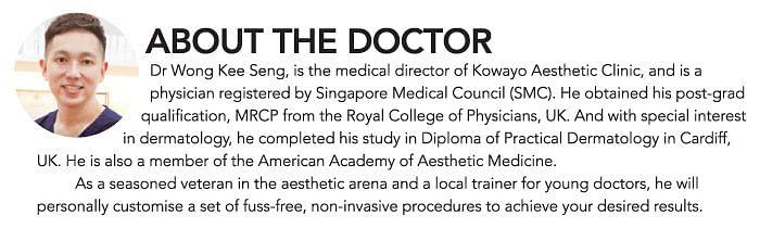 Kowayo Aesthetic Clinic's Dr Wong Kee Seng