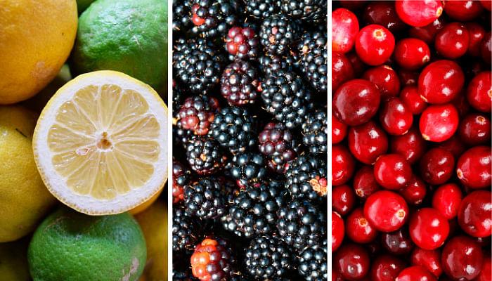 Lemon Lime Blackberries Cranberries