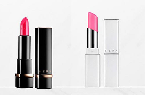 Hera Rouge Holic in shade 147 Supreme Pink, and Sensual Lip Serum Glow in shade 1 Love Blossom