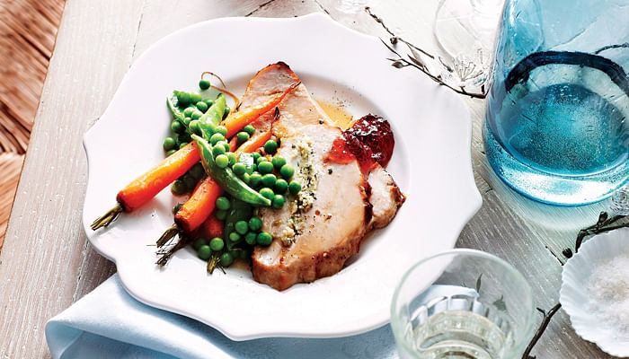 Turkey Breast With Parsley & Lemon Couscous Stuffing