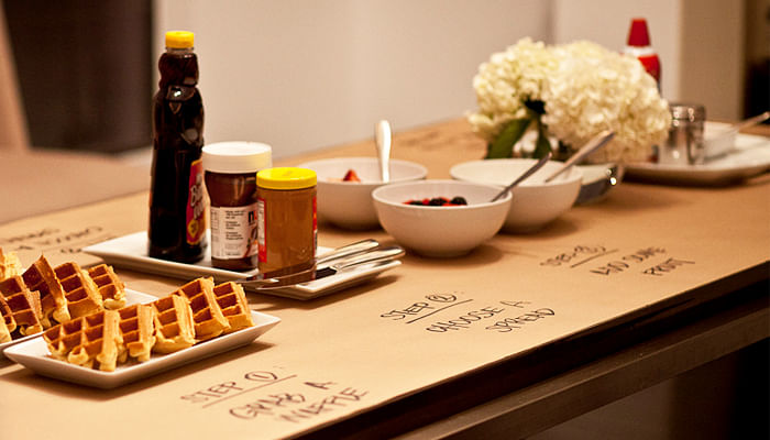 Veronica Yem Waffle Party Table