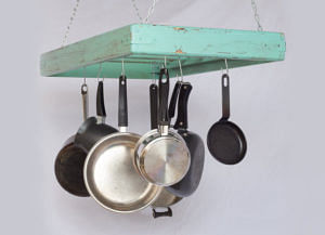 30 Ways To Declutter And Spring-Clean Your Home For CNY Large Wooden Pot Hanging Rack Etsy