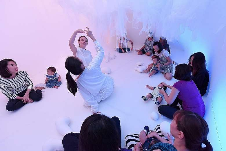 Baby Space, a multisensory installation, is one of the programmes at children's art centre The Artground