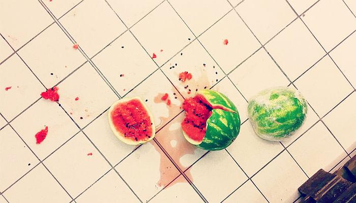 watermelon-drop-on-kitchen-floor
