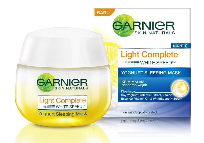 Garnier Skin Naturals Light Complete Night Yoghurt Sleeping Mask, $19.90